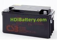 Batería para UPS-SAI 12v 65Ah plomo AGM GP12650 CSB